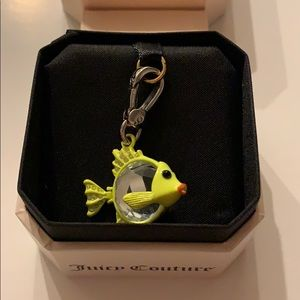 Juicy couture gem fish charm